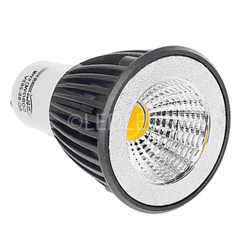 Lampada Per Faretto A Led.Dettagli Su Lampada Faretto Led Gu10 7 Watt Bianco Caldo 3300k Con Mono Led 220v Cob 7w