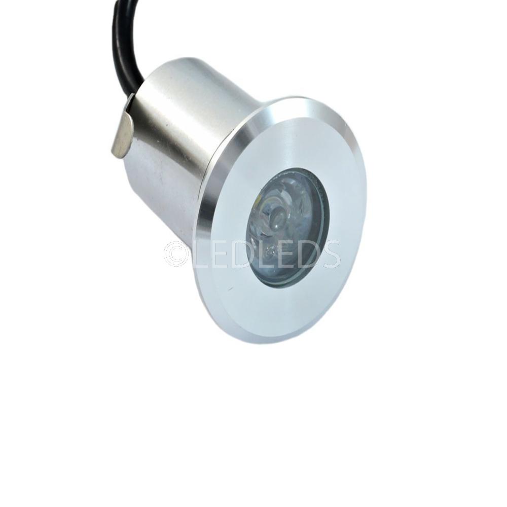 Faretto incasso ip66 luce bianca led 3w segnapasso for Lampadine led per faretti ad incasso