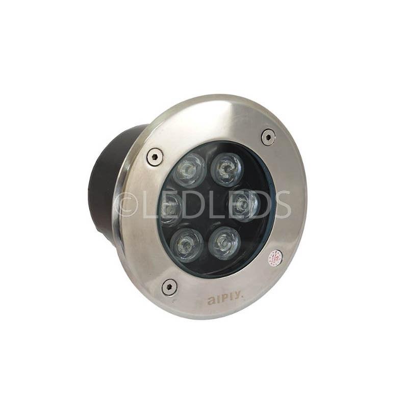 FARETTO LED TONDO CALPESTABILE CARRABILE 12W IP66 AIPIY Luce Calda 3200k