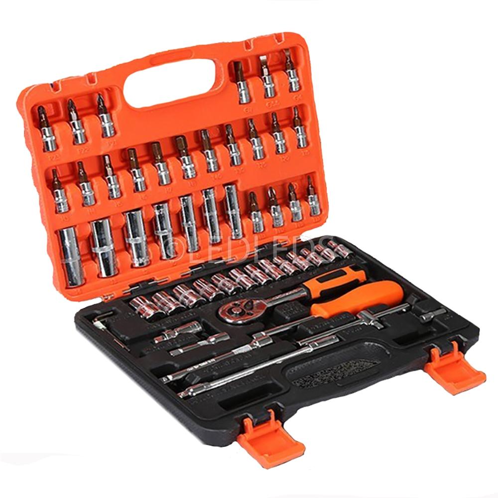 Set chiavi a bussola con cricchetto 53 pezzi inserti torx for Bricoman plafoniere
