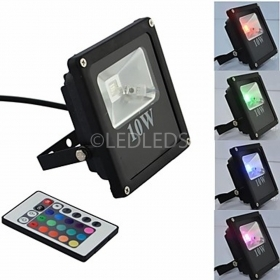 FARETTO FARO LED 10w SLIM RGB AIPIY ALTA LUMINOSITA TELECOMANDO MULTICOLOR