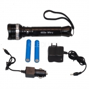 TORCIA LED xml-t6 CREE 4800 W 2000 LUMEN 600 METRI RICARICABILE ZOOM ZOOMABLE